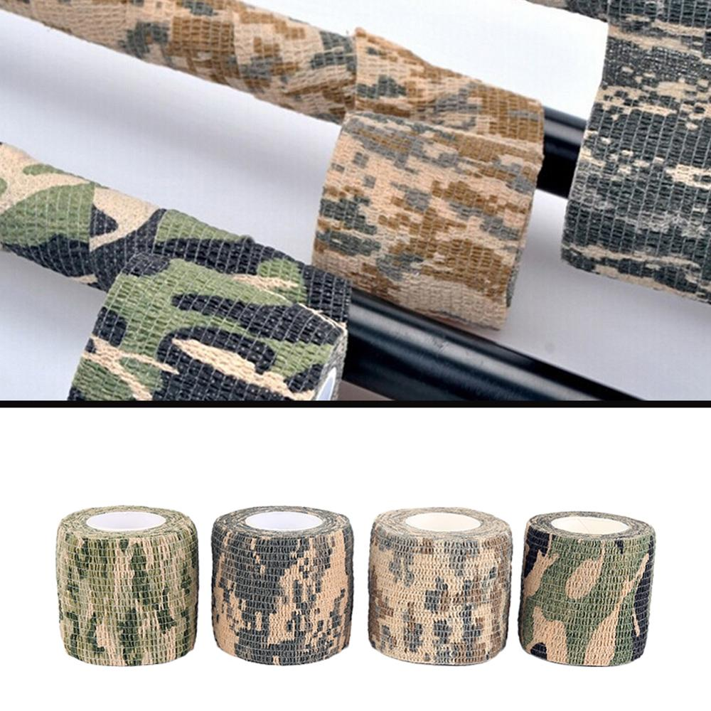 5cm*4.5m Army Camo Outdoor Hunting Shooting Tool Camouflage Stealth Tape Waterproof Hunting Accessories