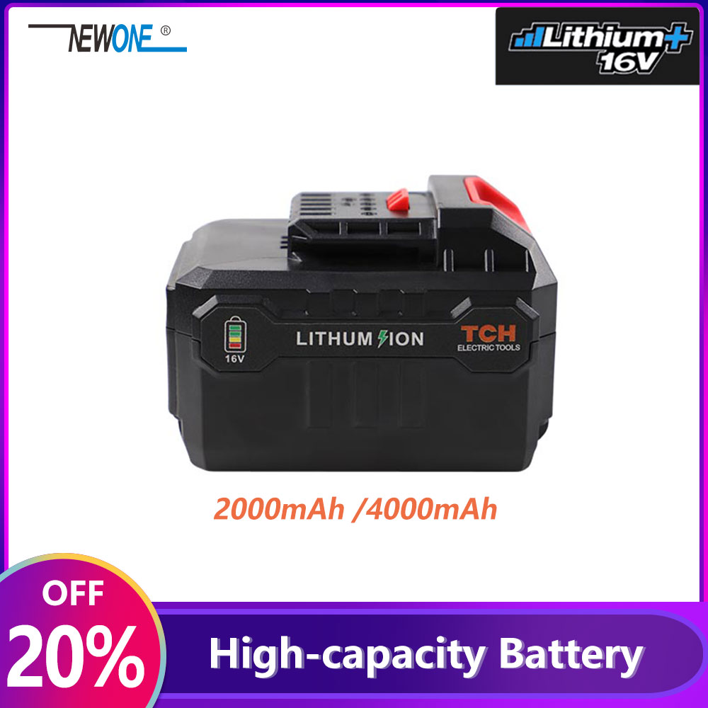 2000 4000mAh Liuthium Battery Used For 16V Polisher,Angle Grinder,Reciprocating Saw,Eletric Drill, Screwdriver, Multi-tool