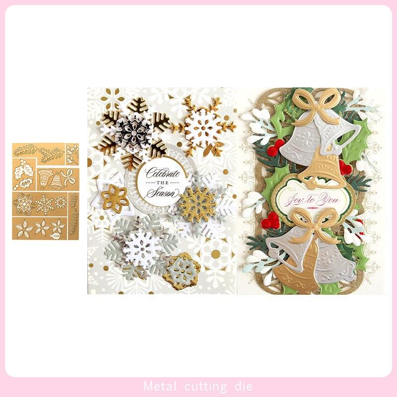 Mini Christmas Botanical Metal Cutting Dies For DIY Scrapbooking Photo Album Decorative Embossing Paper Card Crafts Die Cut 2019