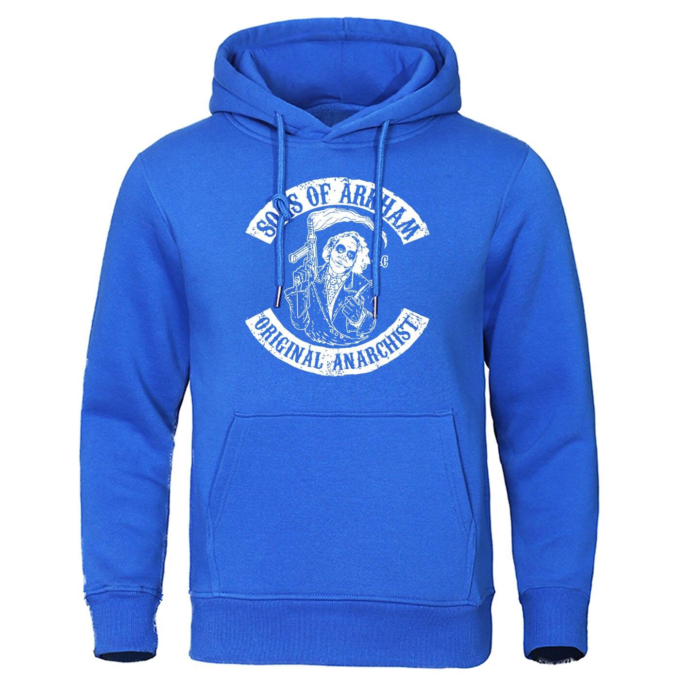 Sons Of Arkham Men Hoodies Original Prankster Hoodie Sweatshirt Mens Letter Print Pullover Funny Hip Hop Joker Streetwear Hoody