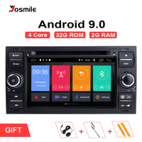 Android 9.0 2 din Car Radio GPS DVD For Ford Focus 2 Ford Fiesta Mondeo 4 C Max S Max Fusion Transit Kuga Multimedia Navigation