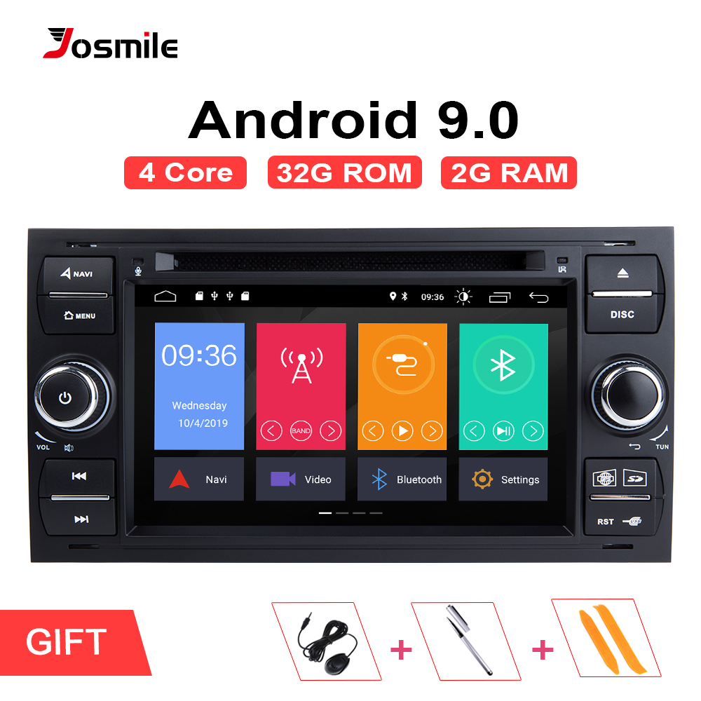 Android 9.0 2 din Car Radio GPS DVD For <font><b>Ford</b></font> Focus 2 <font><b>Ford</b></font> Fiesta Mondeo 4 C-Max S-Max <font><b>Fusion</b></font> Transit Kuga Multimedia Navigation image