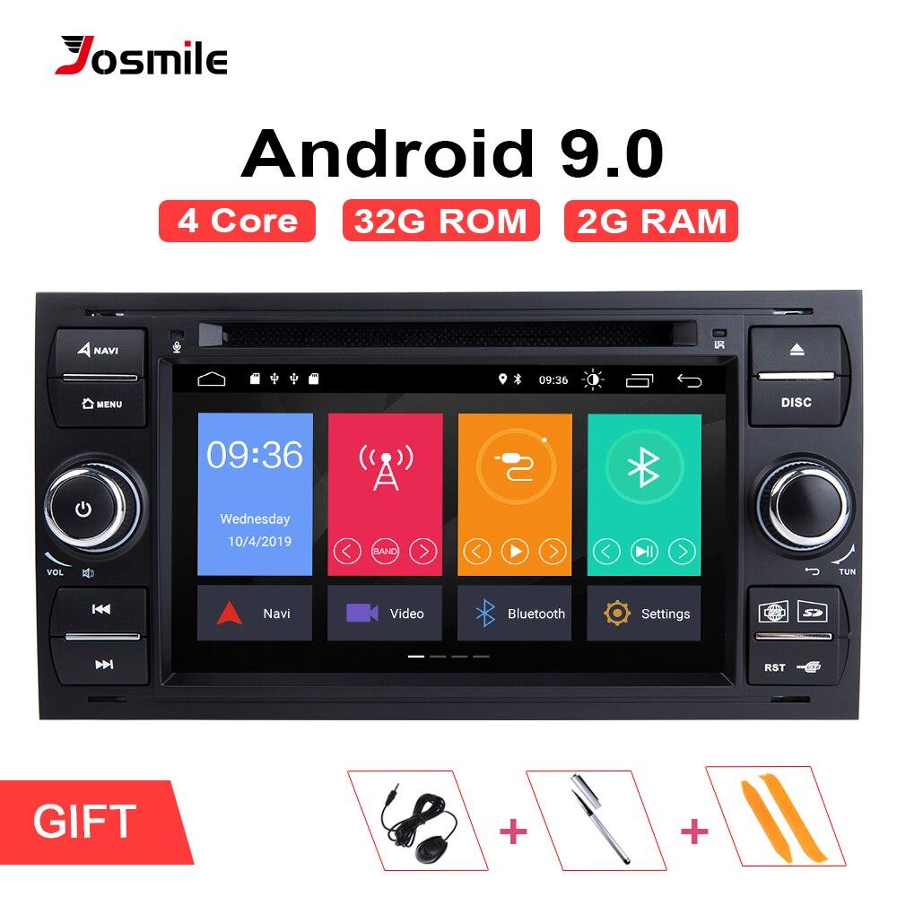 Android 9.0 din 2 Rádio Do Carro GPS DVD Para Ford Focus Ford Fiesta Mondeo 2 4 C-Max S -Max Fusão Trânsito Kuga Navegação Multimídia