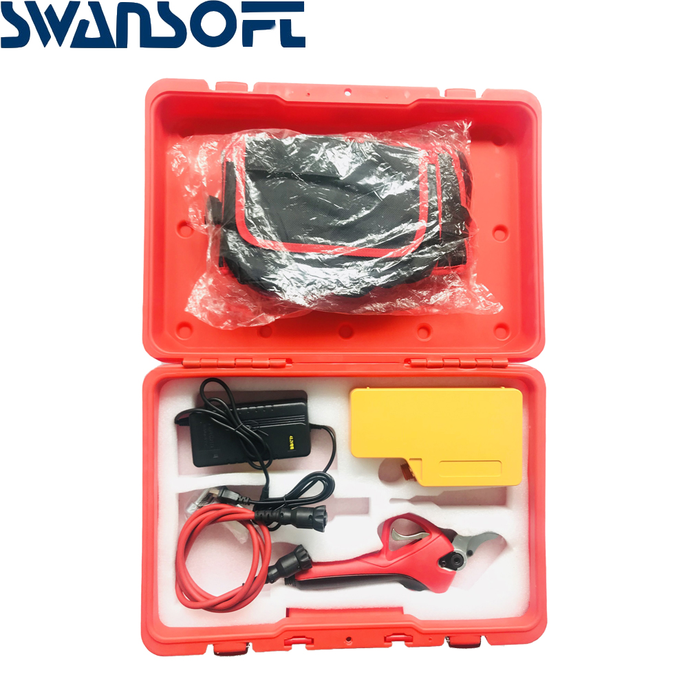 SWANSOFT Electric Pruning Shears Cordless Secateur Rechargeable Pruning Scissors Pruners Garden Cutting Tools
