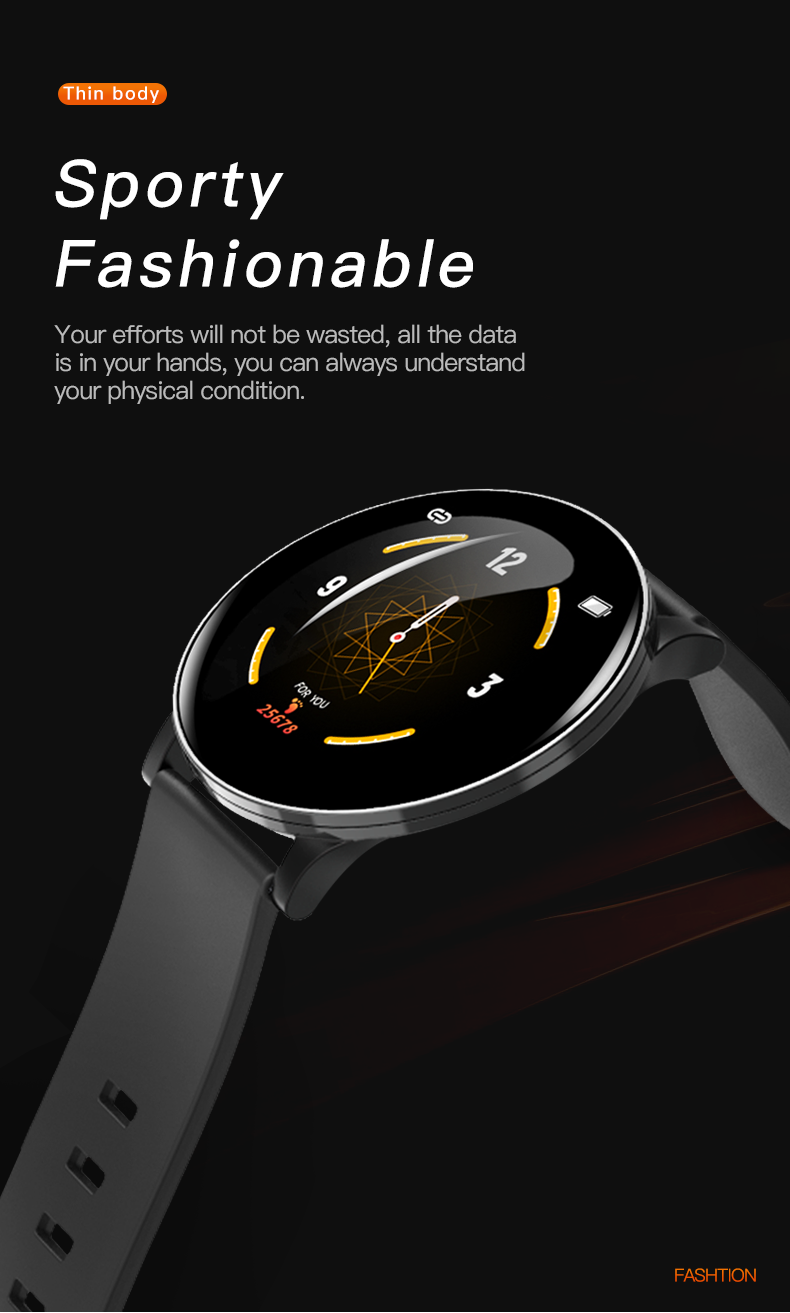 H0abe4554062943cabf385e987150e213M 2020 Full Touch Smart Watch Men Blood Pressure Heart Rate Monitor Round Smartwatch Women Waterproof Sport Clock For Android IOS