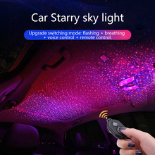 CARCTR Starry Sky Light Car Atmosphere Lights Music Sound Remote Control Laser Projector Modification Decorative Lamp