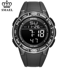 SMAEL Waterproof Mens Watches Top Luxury Brand Digital Sport Watch for Men Silicone Strap Military Date Wrist Watch Male Clock