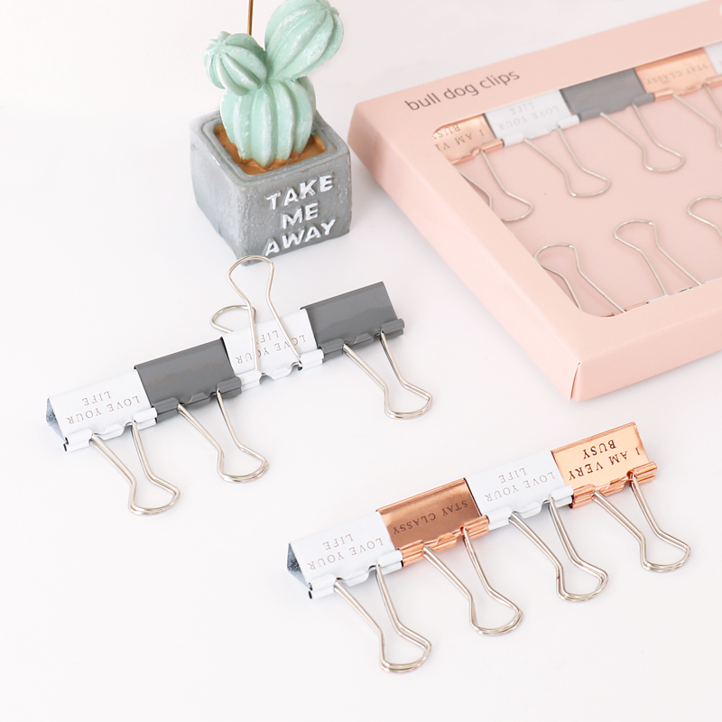 TUTU 10pcs/box 25MM Scandinavian Style Binder Clip Nordic Style Clip For Office School Paper Organizer Stationery Supply H0348