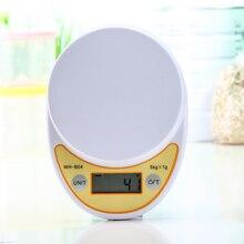 Báscula de cocina Digital portátil de 5kg/1g, dieta de alimentos electrónica LED que mide el peso, minibalanza de cocina operada por batería
