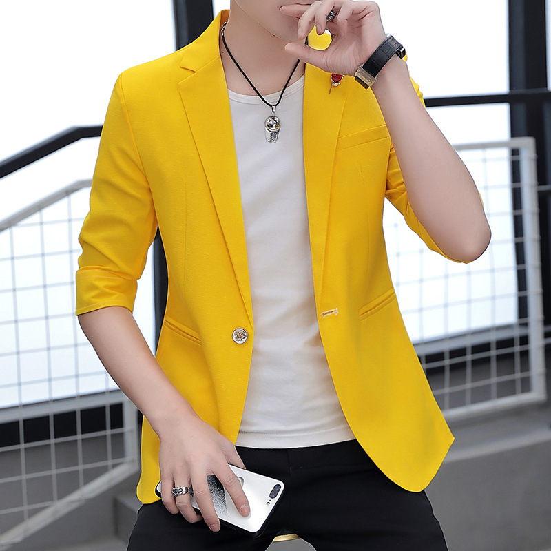 Personalized Sleeve Suit Teen Summer Thin Section 2020 Men's Suit Sleeve