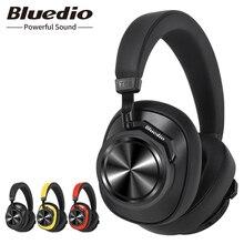 Bluedio T6S Bluetooth kulaklıklar aktif gürültü iptal kablosuz kulaklık telefonları ve müzik ses kontrolü ile