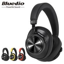 Bluedio t6s bluetooth fones de ouvido com cancelamento de ruído ativo fone de ouvido sem fio para telefones e música com controle voz