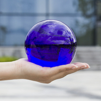 Photography Glass Crystal Ball 80mm 100mm Sphere Photography Photo Shooting Props Lens Clear Round Artificial Ball Decor Gift