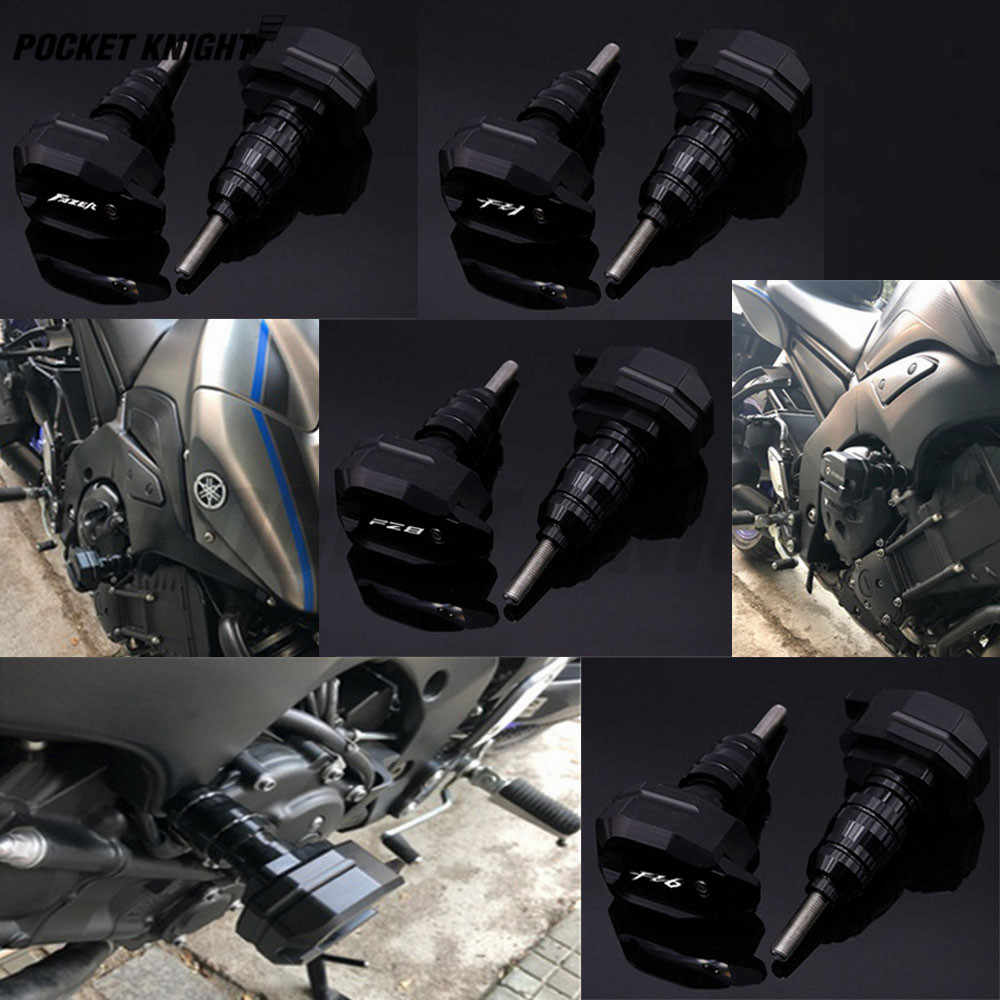 Para FZ1 FAZER FZ6 FZ8 motocicleta CNC La ca/ída del marco de protecci/ón deslizante carenado de guardia contra Crash Pad Protector FZ FZ 1 6 8 Color : FAZER Black