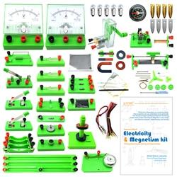 EUDAX School Physics Labs базовые схемы обнаружения электричества и магнетизма наборы для экспериментов для младшей старшей школы