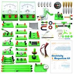 EUDAX la escuela laboratorios de física Electricidad Básica descubrimiento de circuito y el magnetismo kits de experimentos para Junior Senior High School