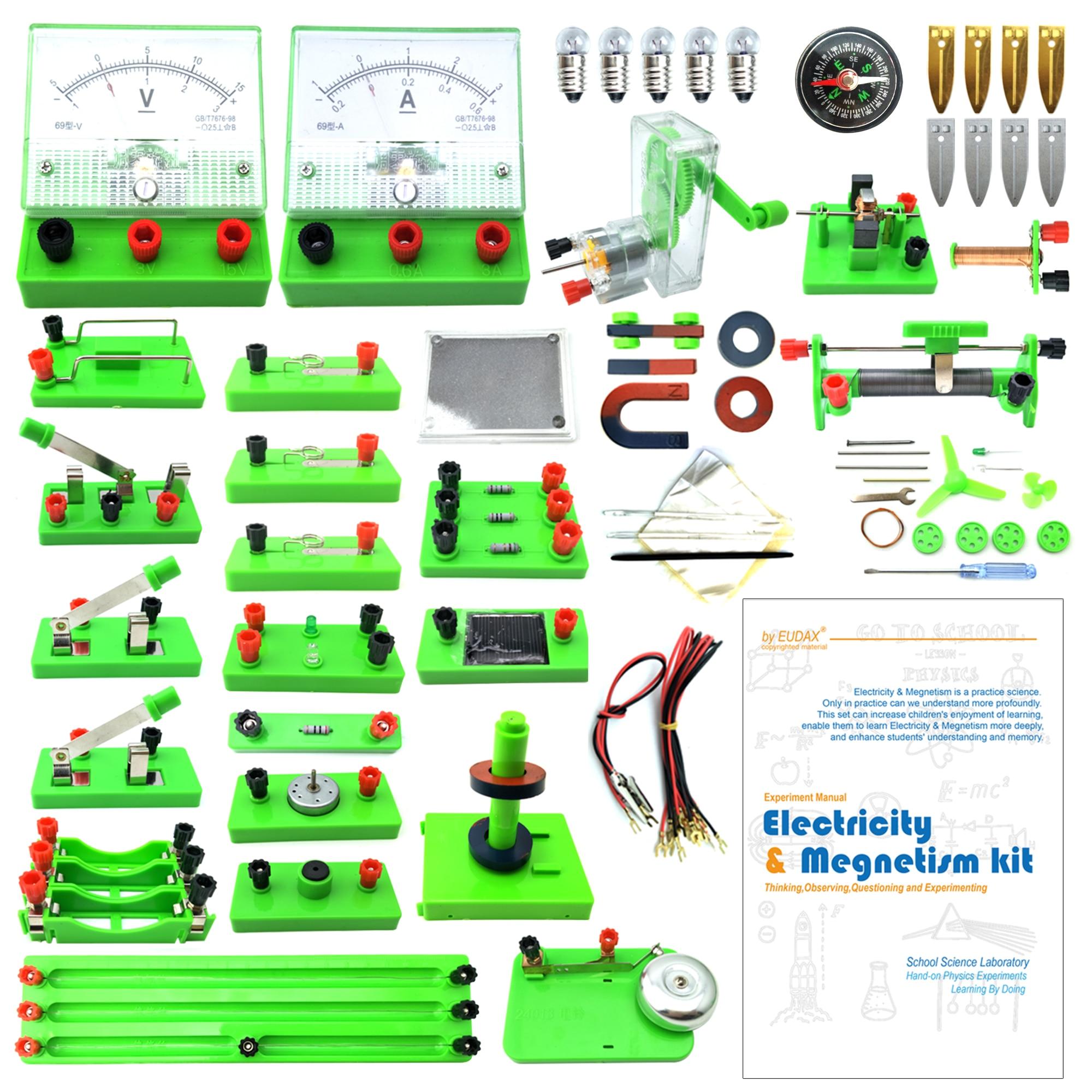 Laboratoires de physique de l'école EUDAX Circuit de découverte de l'électricité de base et kits d'expériences de magnétisme pour le premier cycle du secondaire