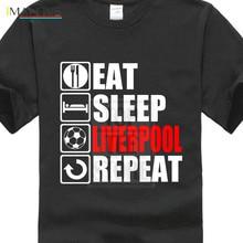 Eat Sleep Liverpool T-shirt - Funny Footballer Fan Christmas Gift Top