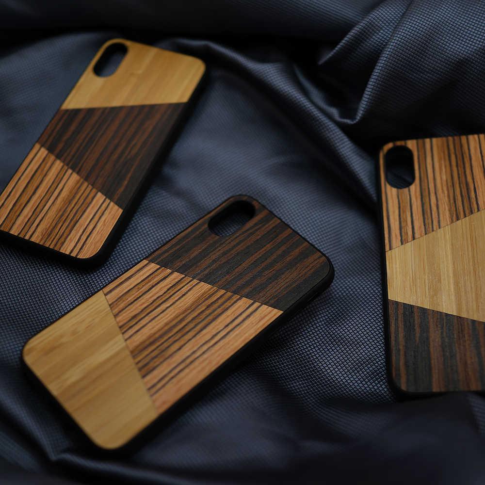 Лоскутный Ультратонкий чехол из натурального дерева для телефона iPhone 6, 6s, 7, 8 Plus, для iPhone SE2, 11 Pro, чехол X, S MAX, телефон из розового дерева, случайный выбор