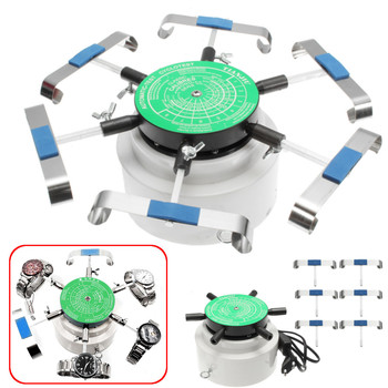 220V/110V Automatic Watch Winder Left Right Rotation Watch Repair Tool For 6 Watches+various adapters