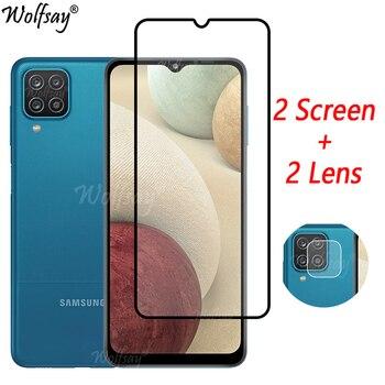 Закаленное стекло с полным покрытием для Samsung Galaxy A12, Защита экрана для Samsung A12, стекло для камеры Samsung A12, стекло 6,5 дюйма
