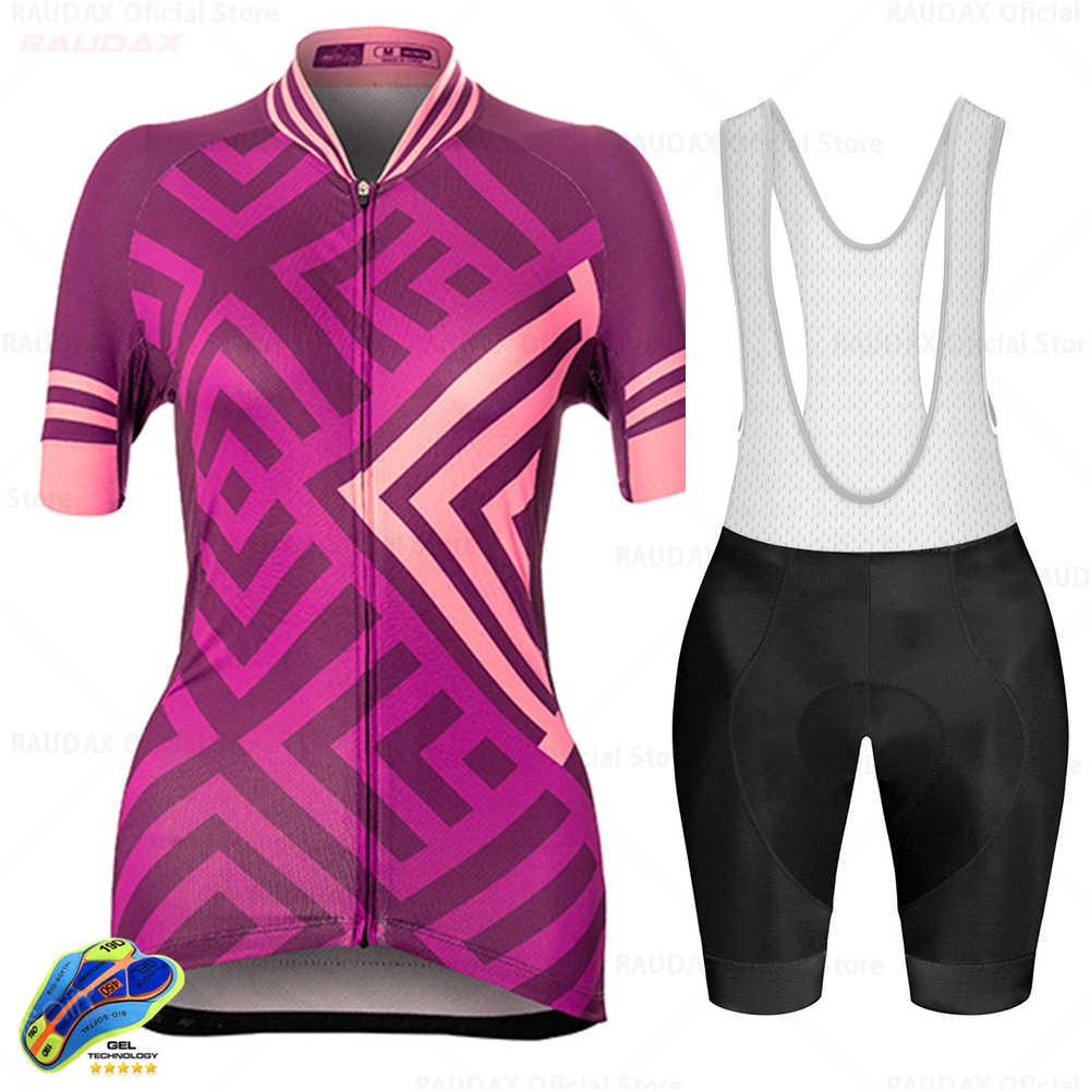 女性サイクリング服自転車ジャージセット女性 mtb ropa ciclismo raudax 女の子サイクルカジュアル着用ロードレース自転車ビブショーツ raudax