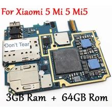 Протестированная Полная работа оригинальная разблокированная материнская плата для Xiao mi 5 mi 5 mi 5 M5 3 ГБ+ 64 ГБ материнская плата с глобальной прошивкой