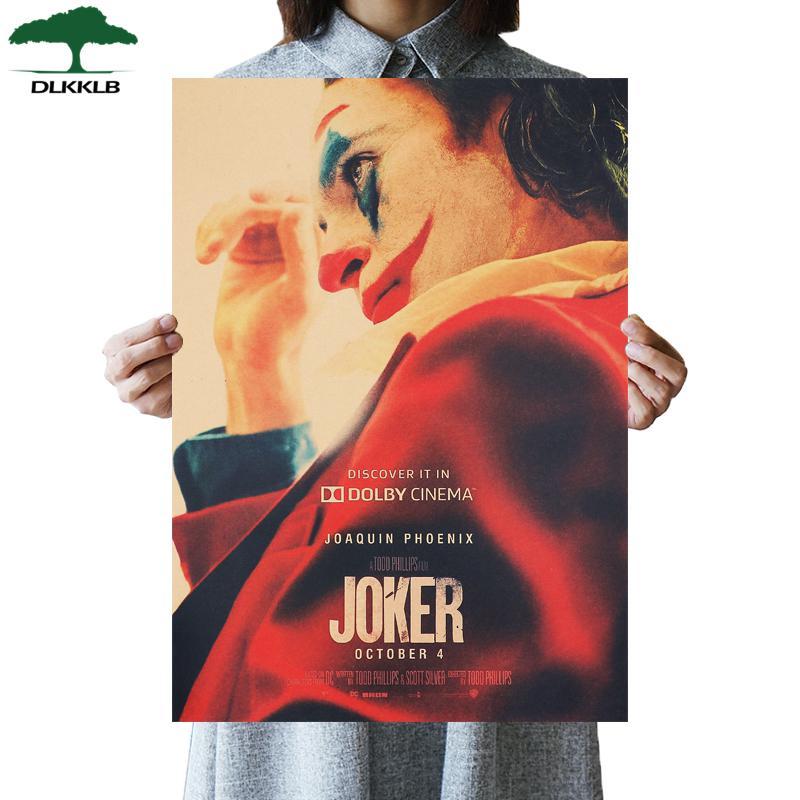 DLKKLB Джокер DC фильм Бэтмен супергерой постер «Клоун» Винтаж 51X36 см Крафт настенная бумажная наклейка для дома декоративная живопись - Цвет: As show
