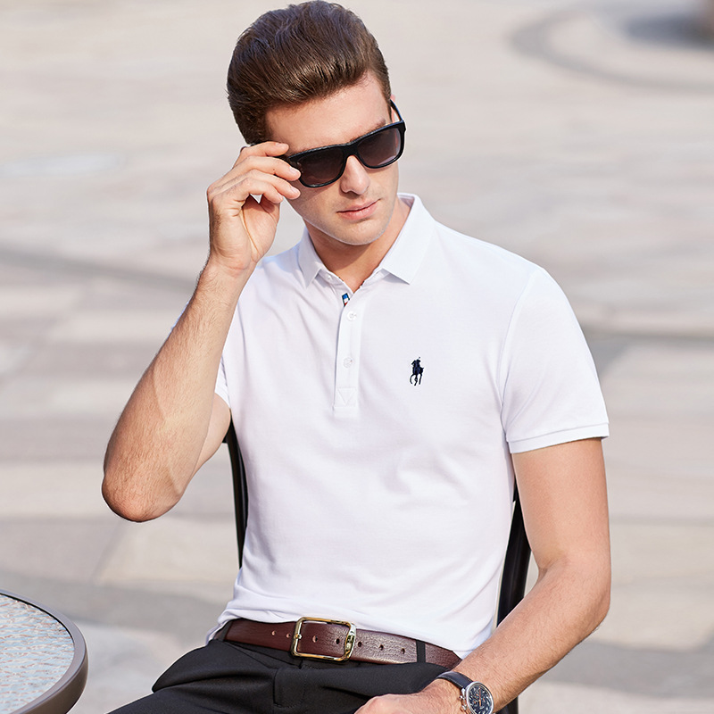 Summer 2020 Men's T-shirt Cotton Men's Short Sleeve T-shirt Polo Ralph Shirt Business Middle-aged Men's Top Tees 9921