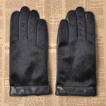 Real Leather Gloves Male Business Sheepskin Gloves Autumn Winter Plus Velvet Thicken Warm Faux Fur Leather Man's Gloves M030NC-1 2 unids 420 mm brillo ajustable led tira kit actualizacion 19inch wide monitor de 19 w lcd panel ccfl led luz de fondo