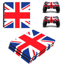 British Flag Style Skin Sticker for PS4 Pro Console And Controllers Decal Vinyl Skins Cover YSP4P-3386