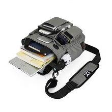 """タブレットのためのipad 7.9 """"9.7"""" 10.1 """"12"""" 10.5 12.9 インチのエアミニプロ 2020 新しい男性レジャー旅行メッセンジャー黒のラップトップバッグ"""