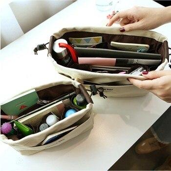 Canvas Purse Organizer Bag Organizer Insert with Compartments Makeup Organizer Handbag organizador trousse maquillage femme 3