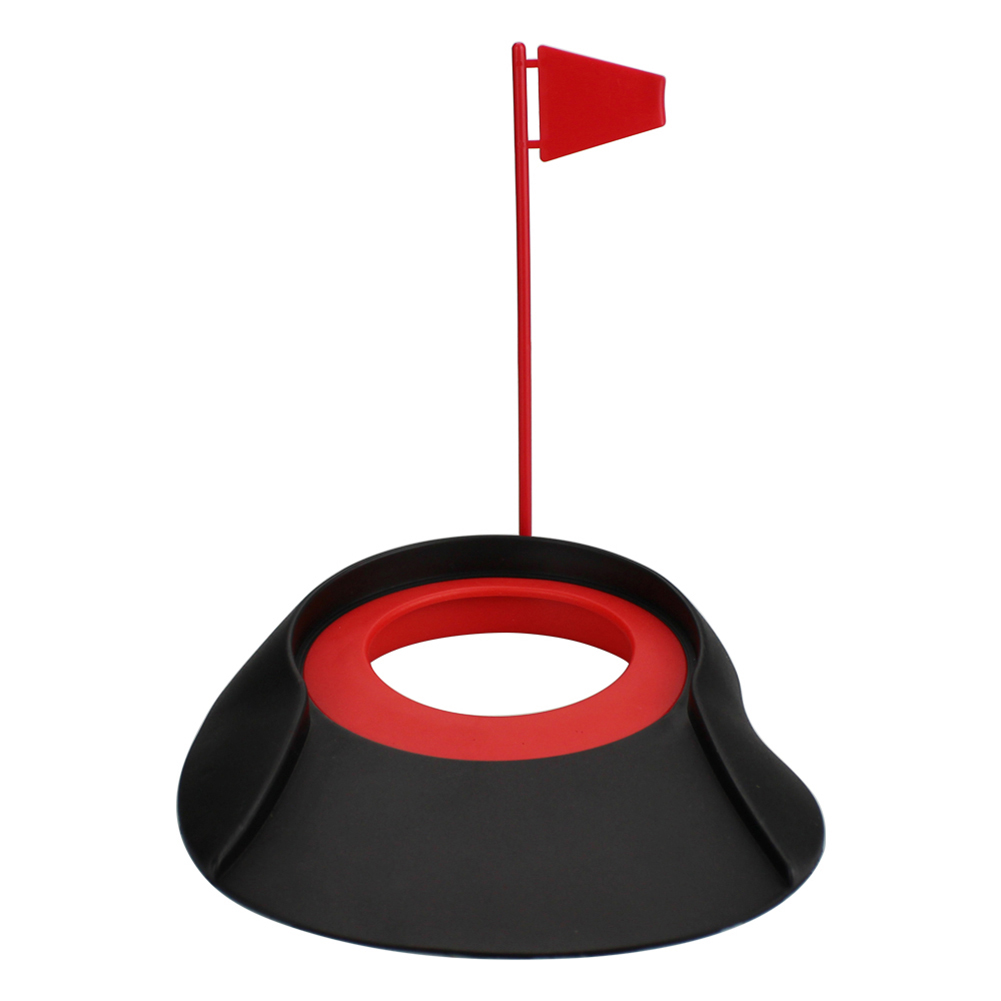 Golf Putter Adjustment Plastic Cup Hole Sign Indoor Practice Training Auxiliary Plastic Golf Putter Exerciser Random Color