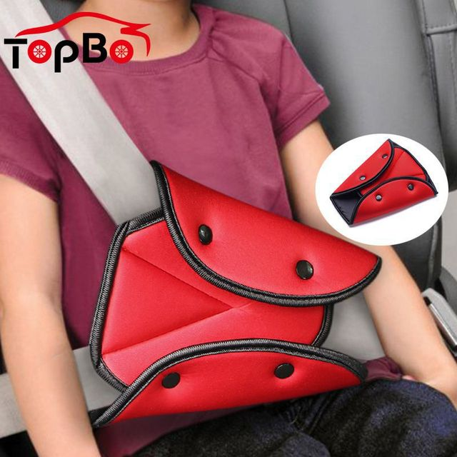 Auto Car Seat Safety Belt Cover Pad Baby Child Product Seat Belt Adjustment Holder Triangle Safety Seat Belt Pad Clips For Kids