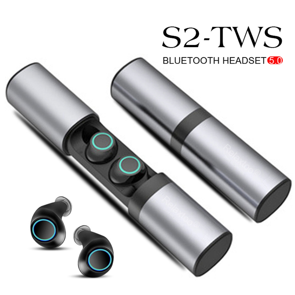 <font><b>S2</b></font> True <font><b>Wireless</b></font> earphones Bluetooth headset Binaural <font><b>TWS</b></font> <font><b>Earbuds</b></font> With Charging Box For Samsung Galaxy S10 Note 10 Plus Huawei image