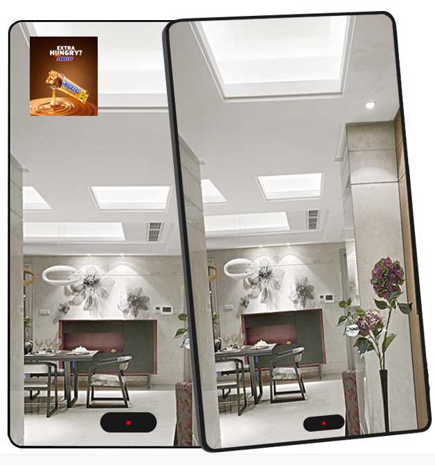 32 43 49 55  inch PC built in mirror function LCD display windows or android OS  touch screen magic digital mirror