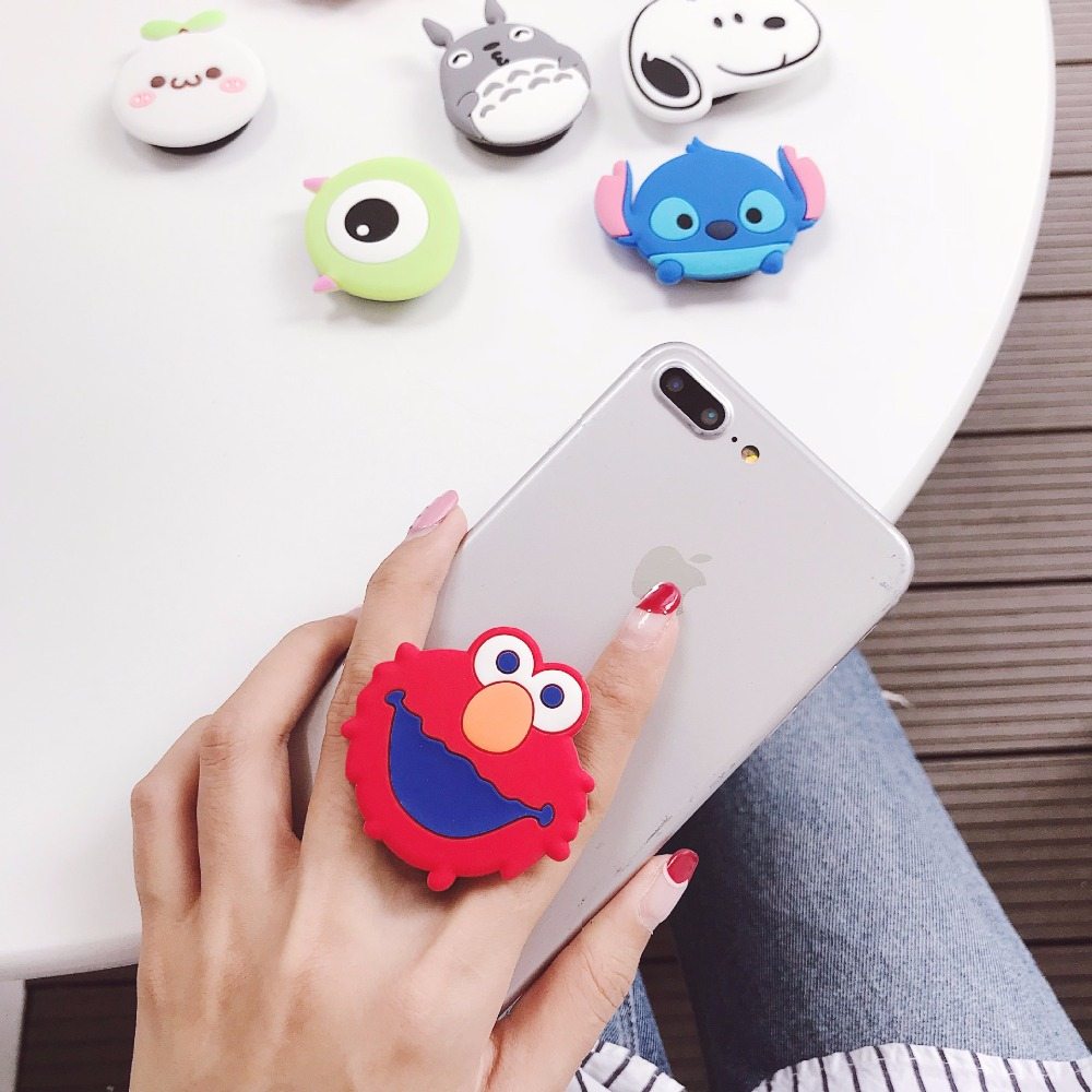 Image 2 - Cute Universal Airbag Bracket Stitch Lucky Cat Phone Expanding Stand Cartoon Mobile Finger Holder Bear Milky Girl Cell Kickstand-in Phone Holders & Stands from Cellphones & Telecommunications