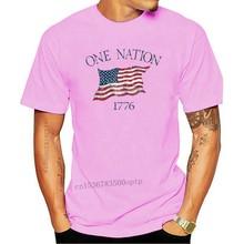 One Nation 1776 USA Flag Men's Long Sleeve T Shirt Patriotic