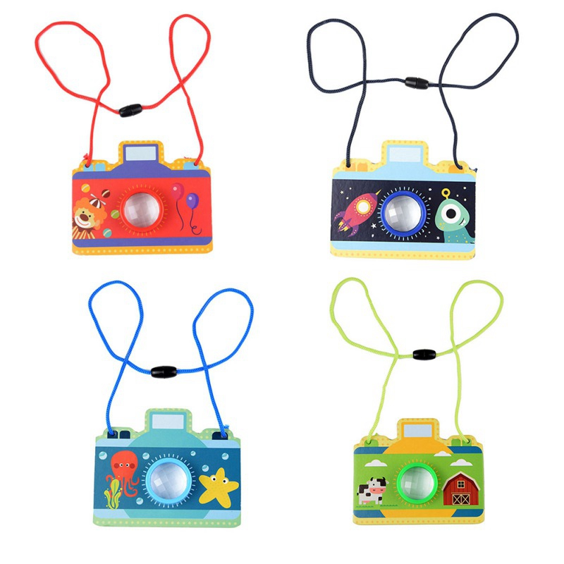 4 Colors Novelty Children Camera Shape Kaleidoscope Kids Toddler Educational Science Developmental Toy Gift