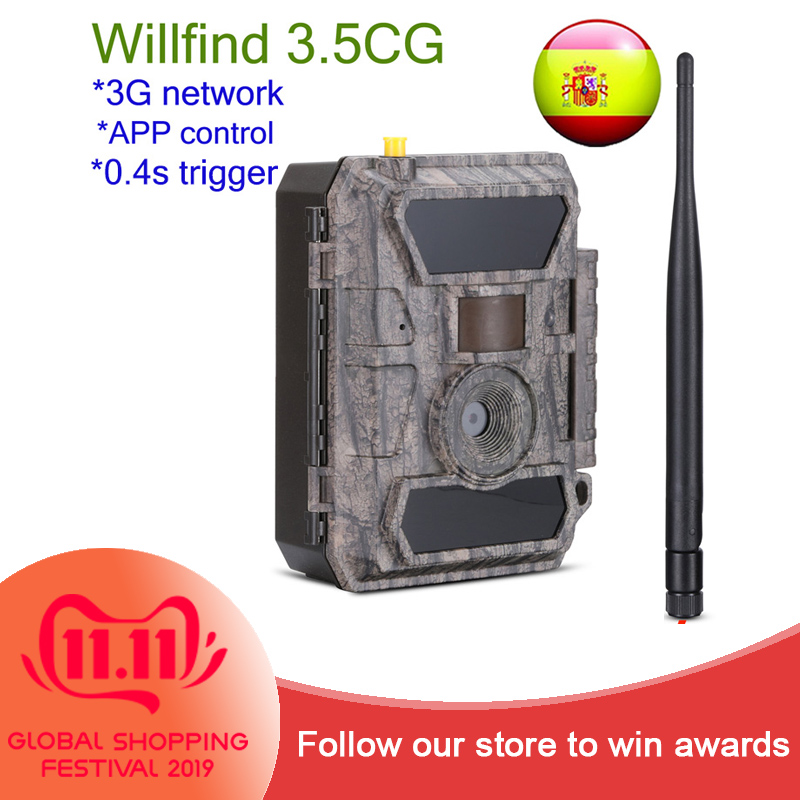 3.5CG Willfine 3G Full 12MP HD Buliding Time Lapse Cameras Home Courtyard Farm Security APP Cameras hot sales
