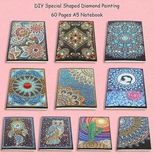 DIY Muli-Color Special Shaped Diamond Painting 60 Pages A5 Notebook Diary Book Embroidery Cross Stitch Craft Gift New