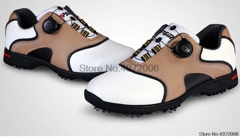 Pgm genuíno couro sapatos de golfe para