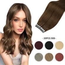 18 цветов, лента для наращивания волос, машина для наращивания человеческих волос, Реми, искусственная кожа, Уток 12-24 дюйма, прямые бразильски...