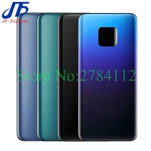 Image 1 - 10pcs Batterie Abdeckung Zurück Glas Panel Für Huawei Mate 20 Pro / mate 20 lite Hinten Tür Gehäuse Fall mit Klebstoff Ersetzen