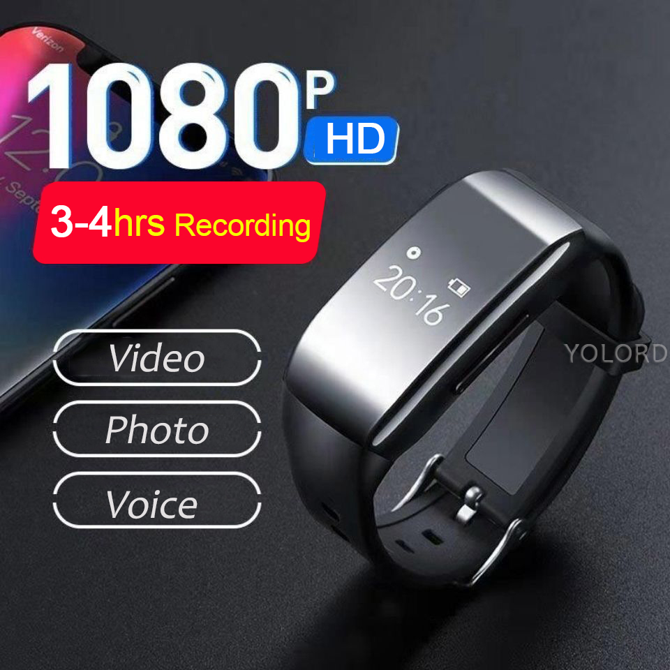 1080P Kamera HD Stift Stimme Aufnahme Video Foto Audio Sound <font><b>Cam</b></font> Recorder Smart Band Uhr Armband Armband image