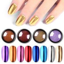 Pigment Nail-Powder Glitter Dust-Chrome Gold Manicure-Decoration 1-Bottle-Mirror Metallic
