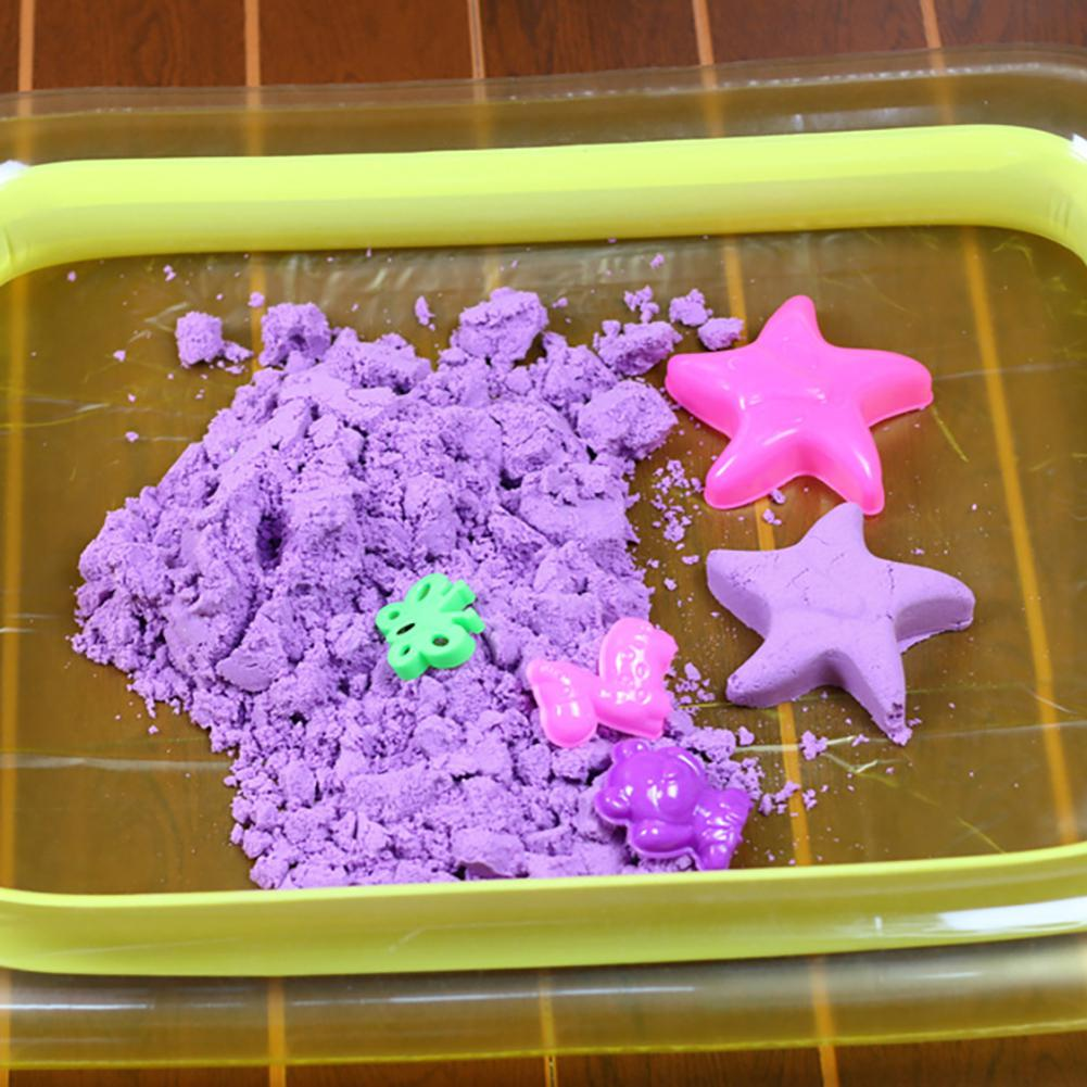 None Children's Play Sand Toys Indoor Castle Play Sandbox Inflatable Sand Tray Table Random Color