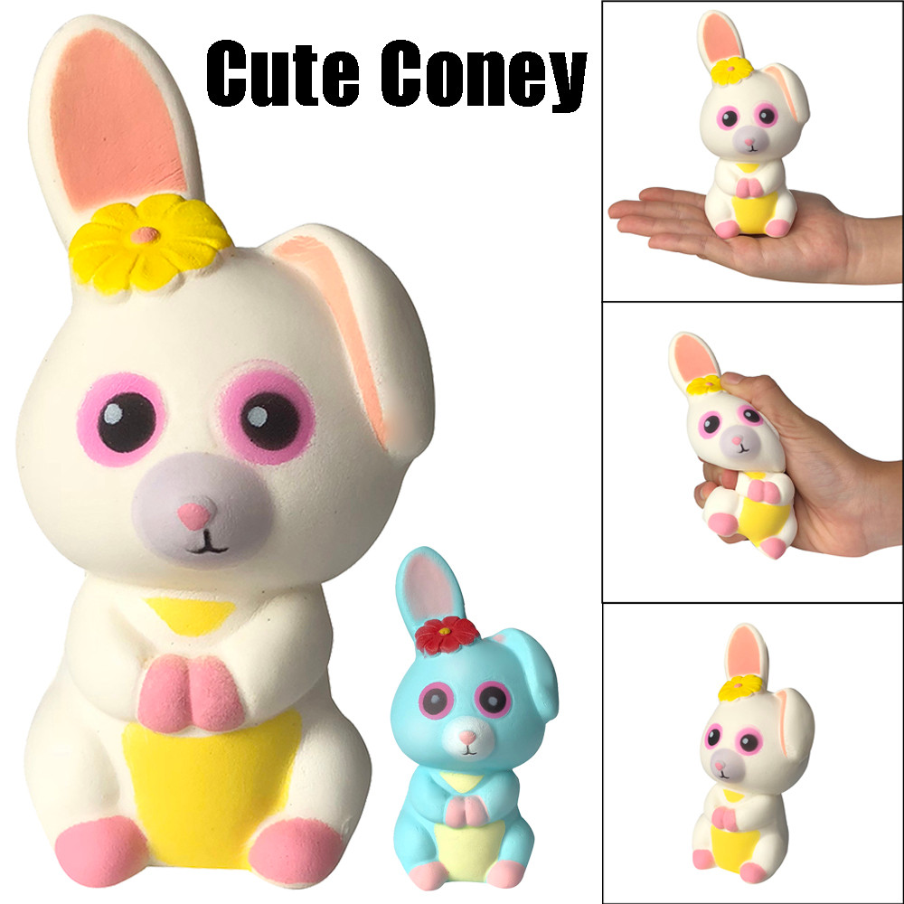 Cute Long Ear Rabbit Cute Stress Reliever Toy Squishies Adorable Coney Slow Rising Cream Squeeze Scented Stress Relief Toys L107