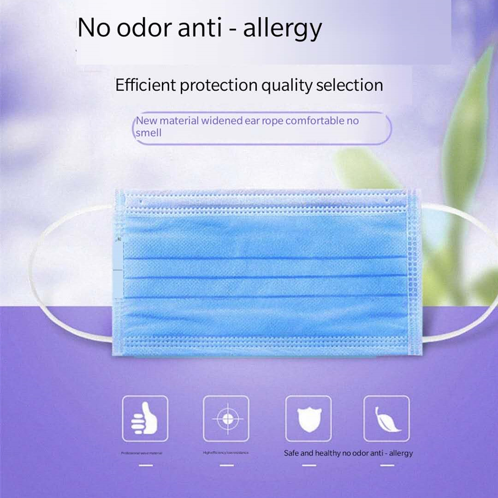 Pcs 3 Layer Disposable Medical Protective Face Mouth Masks Anti   PM2.5 Influenza Bacterial Facial Dust Proof Safety Masks